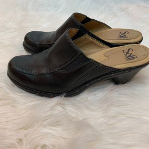 Sofft Shoes Heels Sandals Leather Up Black 7M